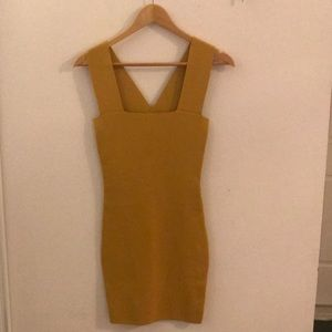 Yellow Seek the Label stretchy cocktail dress.